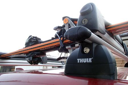 CX-5とTHULEのスキーキャリア