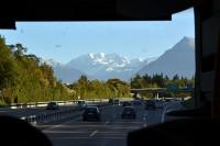 バスから見たアルプス山脈