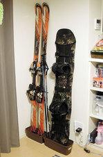 スキー板とボードの保管方法