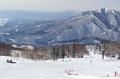 網張温泉スキー場の山頂からの景色