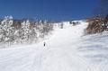 網張温泉スキー場の一番上のコース