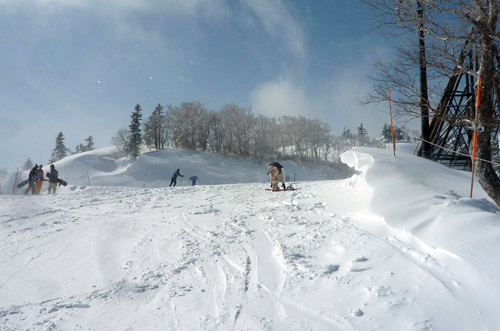 安比高原スキー場の山頂
