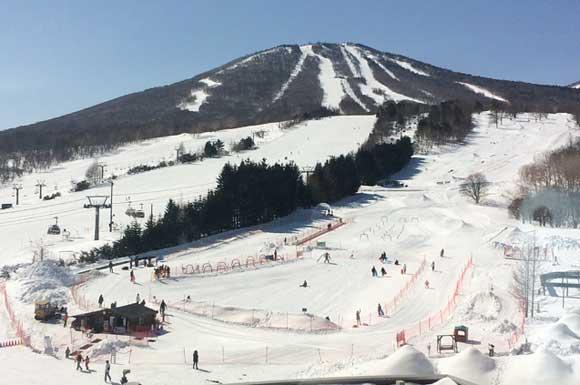 安比タワーから見たスキー場