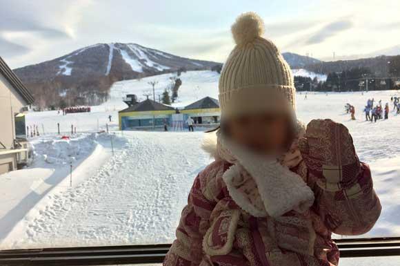 安比高原スキー場と娘