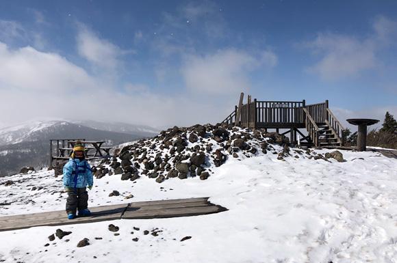 安比高原スキー場山頂にある展望台