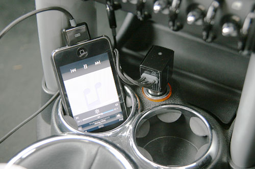 bmw miniとipod touch