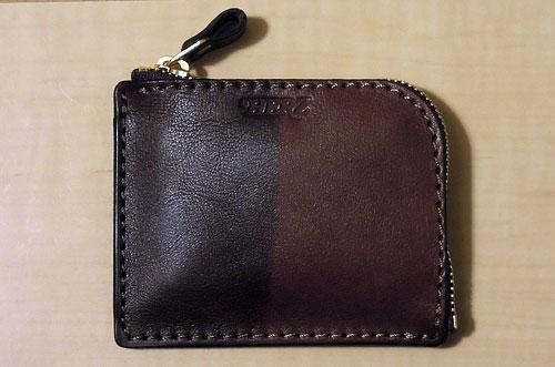 ラナパーを塗った革財布