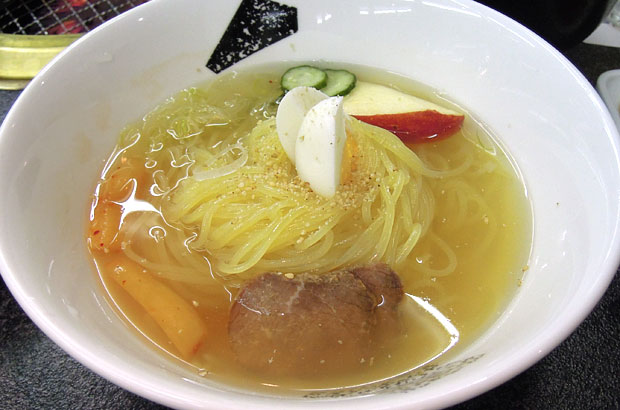 李朝苑の冷麺