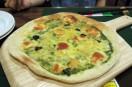 ランチセットのピザ