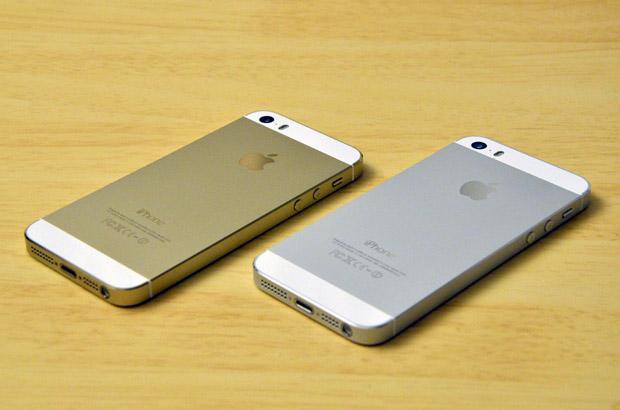 iPhone5Sのシルバーとゴールド