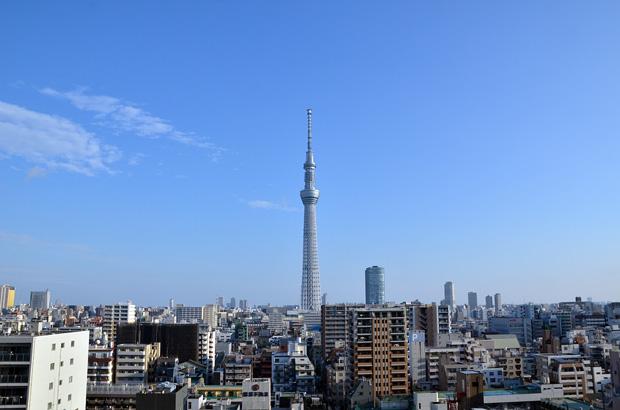 東武ホテルレバント東京から見る東京スカイツリー