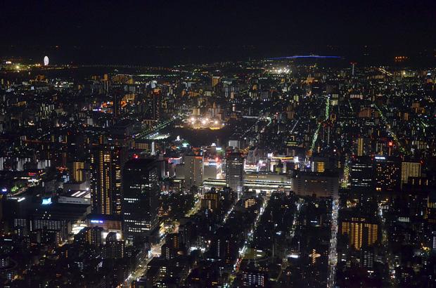 展望デッキからの夜景