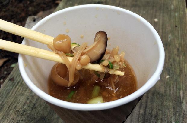 玄米麹のきのこ味噌汁