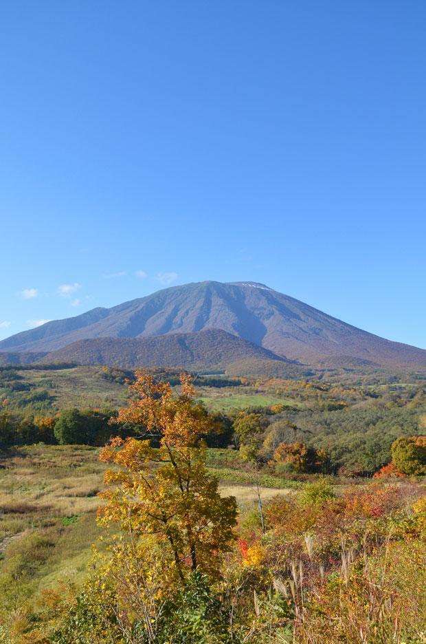 春子谷地から見る岩手山